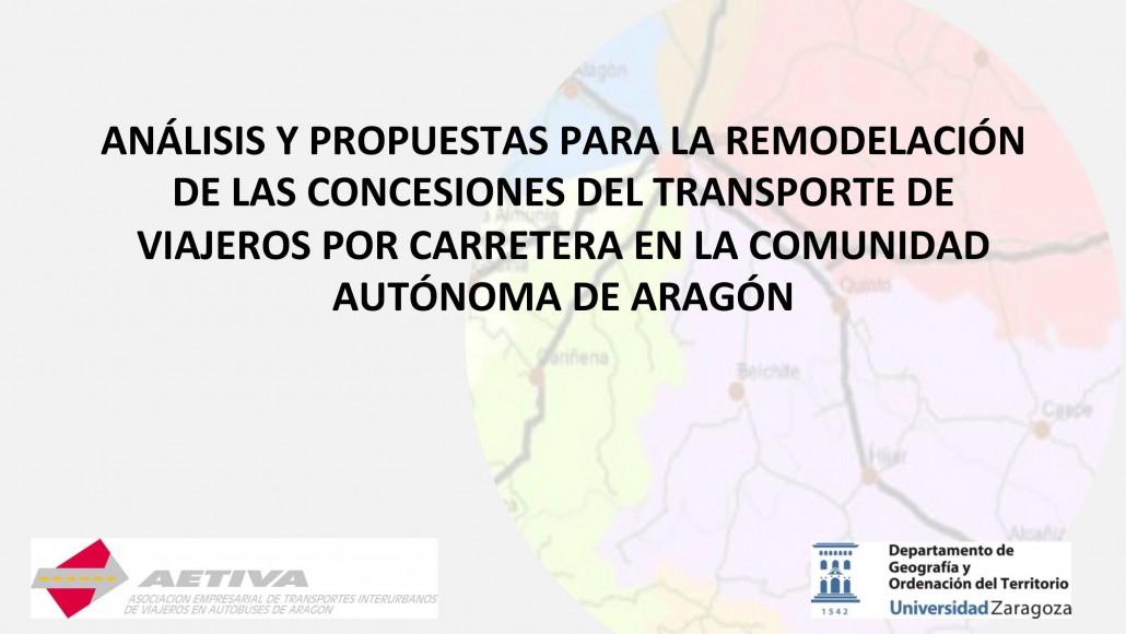 Análisis y Propuestas para la Remodelación de las Concesiones del Transporte de Viajeros  por Carretera  en la Comunidad Autónoma de Aragón
